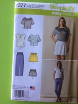 # Simplicity Pattern 1377 Misses Ladies Top Pants Shorts Skirt Size 14-2... - $11.18