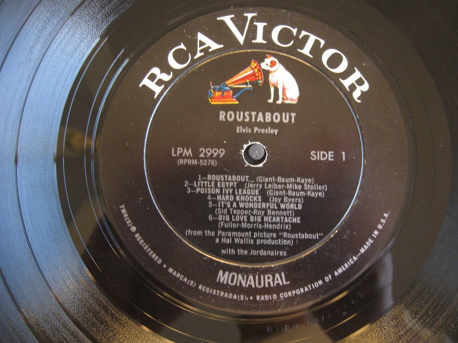 Elvis Presley Roustabout RCA LPM-2999 Mono Vinyl Record LP