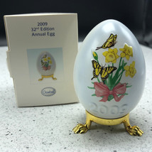2009 GOEBEL ANNUAL EASTER EGG West Germany 32nd edition figurine butterf... - $29.65