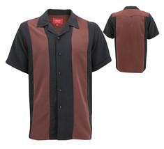 Men's Retro Classic Two Tone Guayabera Bowling Casual Dress Shirt w/ Defect XL