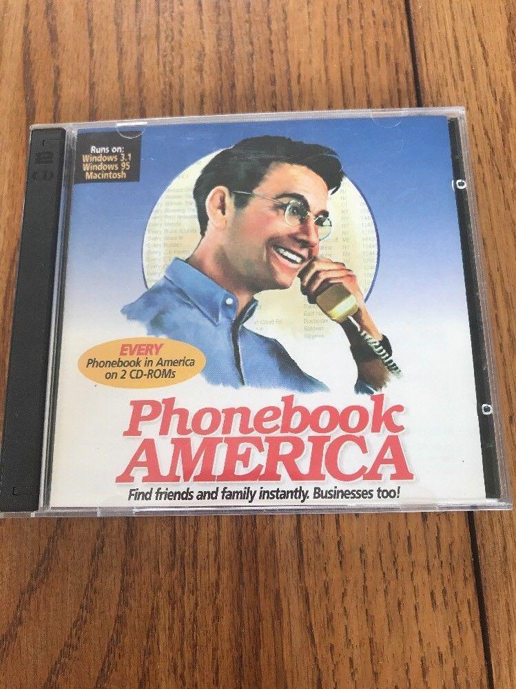 Every Phonebook In America On 2 CD-ROMs Ships N 24h