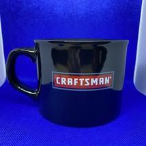 Vintage Craftsman Ceramic Coffee/Soup Mug, Black with Red Logo - $6.67