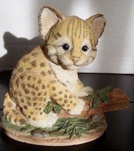 Baby Ocelot Figurine Nature's Endangered by Crystallite Fraser Collectio... - $17.98