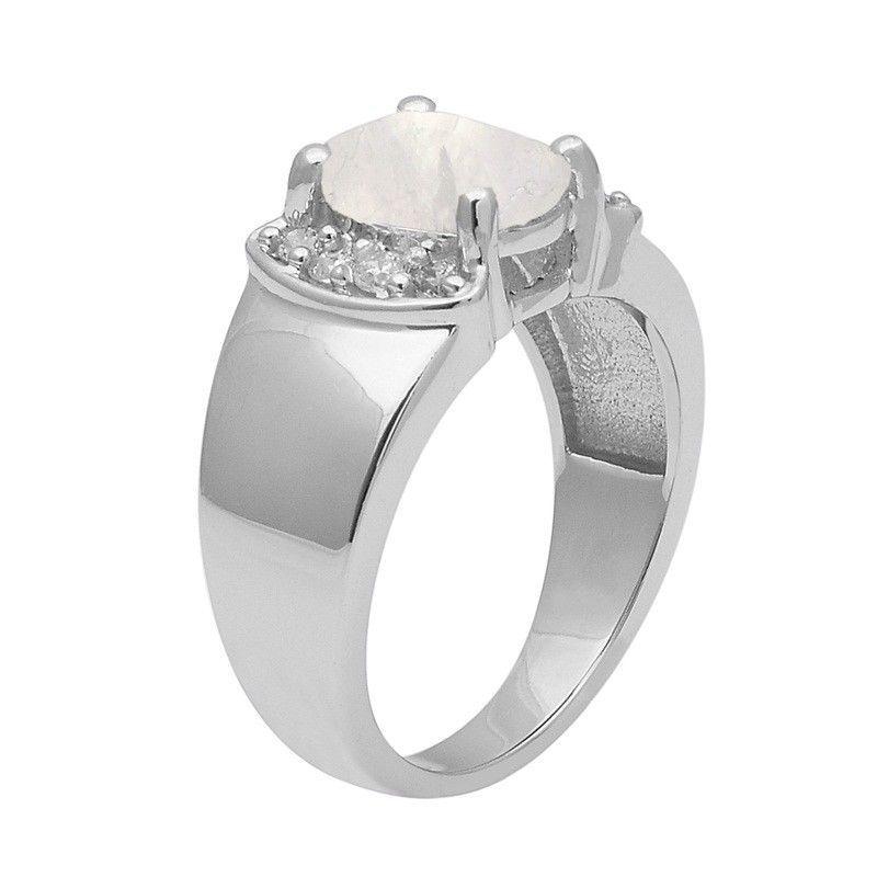 Rainbow Moonstone 925 Sterling Silver Ring Shine Jewelry Size-9.5 SHRI1406
