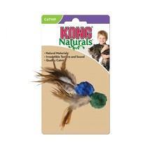 Kong Crinkle Ball with Feathers Cat Toy - £8.19 GBP