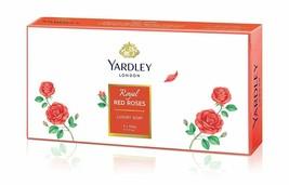 Yardley Londra Royal Rosso Rose Lusso Sapone - (100g X 3) - $18.51