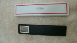 Coach Black red leather photo bookmark - new in box - $29.99
