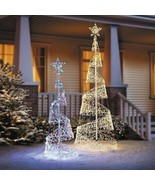 Clearance 5' or 7' Lighted Spiral Christmas Tree Outdoor Yard Decor Mult... - $124.70+