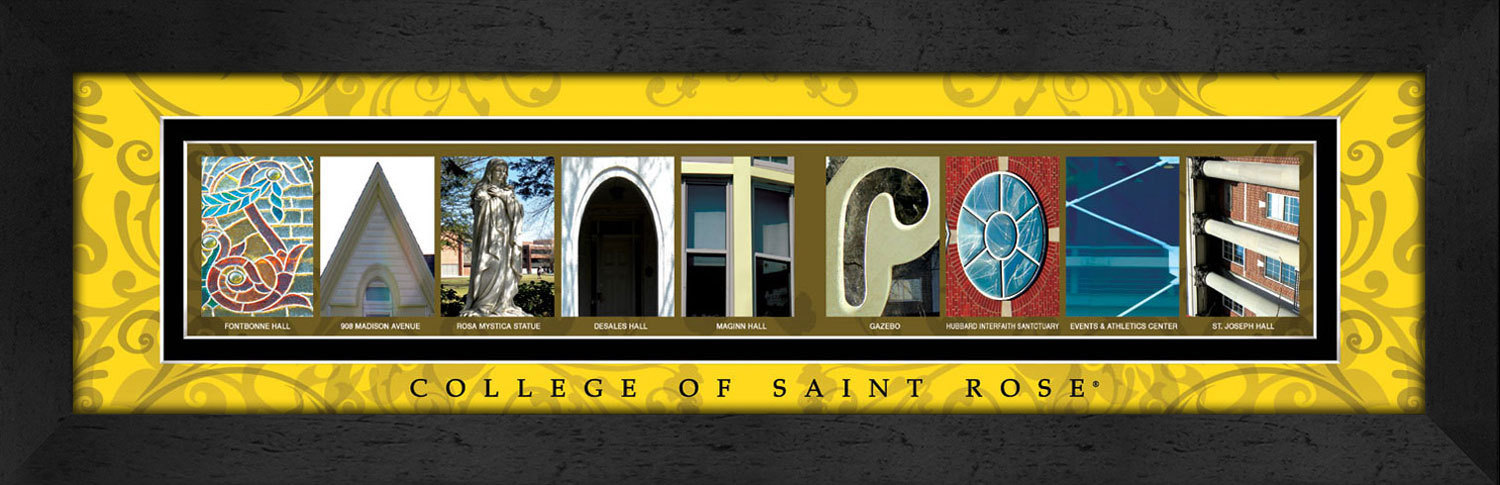 Primary image for College of Saint Rose Officially Licensed Framed Campus Letter Art