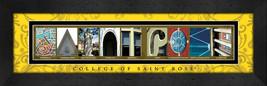 College of Saint Rose Officially Licensed Framed Campus Letter Art - $39.95