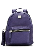 MCM Lush large Leather Tumbler Backpack ~NWT~ Navy Blue - $363.84