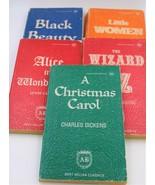 Vintage Best Seller Book Classics Oz Black Beauty Christmas Alice Women ... - $14.84