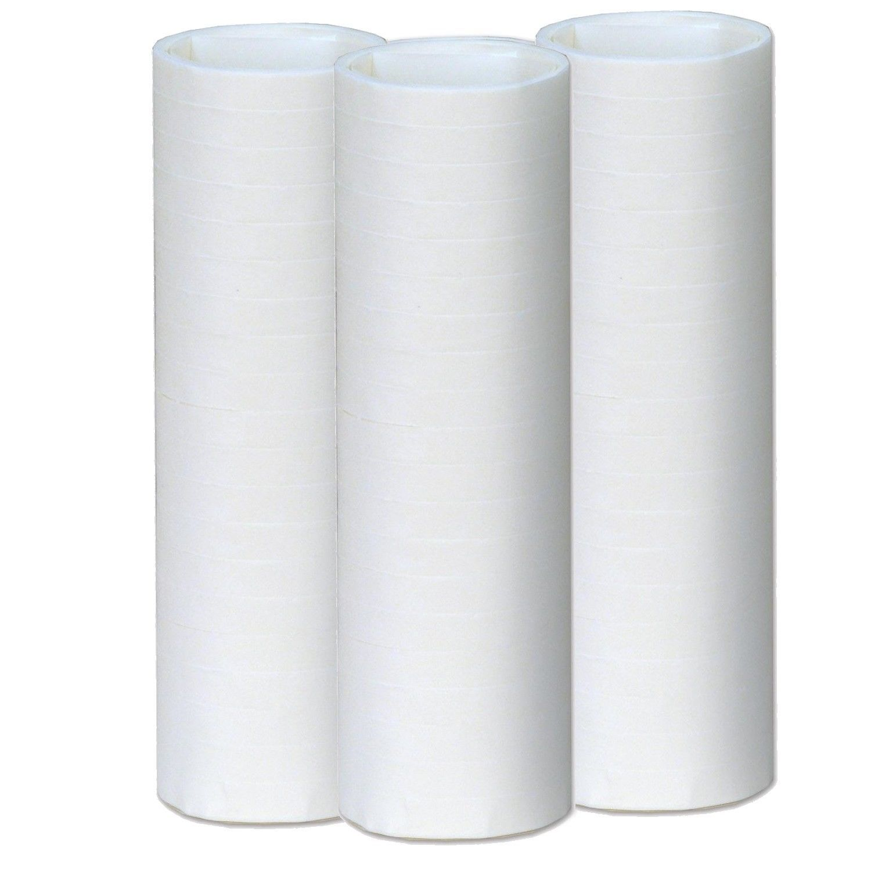 50 Rolls of White Serpentine Throws
