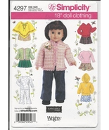 Doll Clothes 18 inch American Girl Simplicity 4297 Pattern Skirt Poncho ... - $5.93