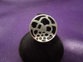 SILPADA Sterling Silver Black Floral Medallion Modern Ring SIGNED Size 6 - $66.83
