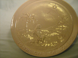 [Y7/Z185] Frankoma Christmas Plate 1976 The Gift Of Love - $5.58
