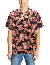 Men's Casual Tropical Hawaiian Luau Aloha Revere Beach Button Up Dress Shirt image 8