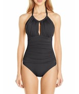 Kenneth Cole BLACK Sexy Solids High-Neck One-Piece Swimsuit, US Large - $53.96