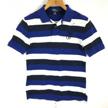 Ralph Lauren Boy Shirt Short Sleeve Polo Big Horse Stripe Size XL 18 - 20 - $16.68