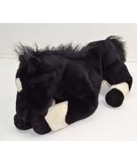 Soft Classics Black Horse White Laying Floppy Beanbag Plush Stuffed Anim... - $28.50