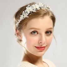 New Wedding Prom Flower Headband Headpiece Hair Bridal Bridesmaid Rhines... - £18.64 GBP