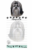 Shih Tzu Magnetic Note Pad Adhesive 50 Sheets Good Dog Woof Bow Wow Blac... - $9.89