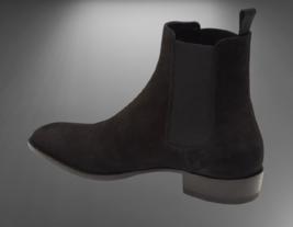 Handmade Men Suede HighAnkle Chelsea Boots image 3