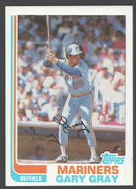 Sattle Mariners Gary Gray 1982 Topps Baseball Card # 523 nr mt - $0.50