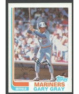 Sattle Mariners Gary Gray 1982 Topps Baseball Card # 523 nr mt - $0.50