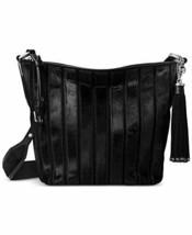 Michael Kors Brooklyn Applique Medium Feed Bag Black - $287.00