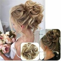 Natural Color Curly Messy Bun Hair Piece Scrunchie Hair Extension image 1
