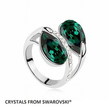2016 Hot Fashion imitation Charming ring With Crystals from SWAROVSKI 6 colors a - $24.37