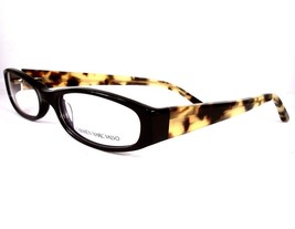 Carmen Marc Valvo Eyeglasses Nadia Black Tortuga Women Plastic 52-16-135 - $79.18