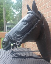 Small Draft Warmblood Horse Anatomical Jump Off Black Leather Bridle - $129.99