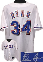 Nolan Ryan signed Texas Rangers White Majestic MLB Jersey XXL- MLB Hologram - $298.95