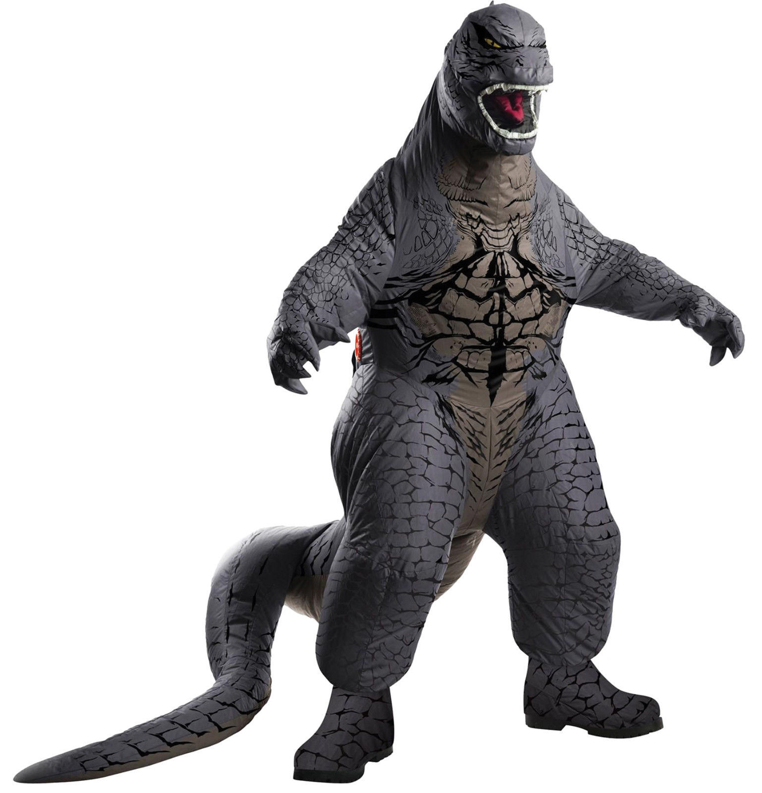 Deluxe Inflatable Blowup Adult Godzilla Halloween Costume Cosplay Dress Up