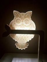 Mooas USB Wired Acryl LED Owl Night Mood Lights Lighting Lamp Indoor Interior image 9