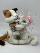 Barbie Princess n Pauper WOLFIE & SERAFINA Plush Hugging Cats 2004 Rare - $45.99