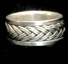Vintage Braided Spinner Sterling Silver Southwest Ring Size 5.25 - $35.00