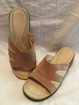 Merrell Tan Suede Slides Sandals Women's Size 7 Sundial Casual Slip On S... - $28.68