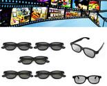 5 Pcs Passive Polarized 3D Glasses For Panasonic LG Sony Samsung 3D TVs Monitor