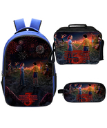 WM Stranger Things Season 3 Backpack Lunch Box Pencil Case Blue A - $40.99