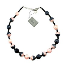 Necklace Antique Murrina COA39A03 with Murano Glass Pink and Black to Choker image 1