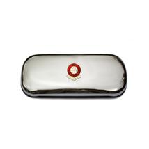 Stoke City football club polished chrome glasses case - $29.99