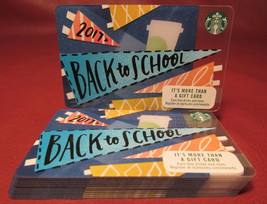 Lot of 13 Starbucks, 2017 Back to School Gift Cards New Unused with Tags - $39.90