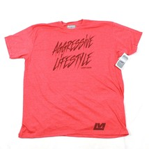 NEW Aggressive XXL T Shirt Adult 2XL Shortsleeve Tee Tapered Fit Red Heather - $19.59