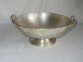 Vintage ASCO E.C.P. Silverplate ? Centerpiece Bowl 2 Handle Grape Vine P... - $34.64