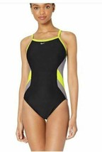 Nike Swim Women's Color Surge Crossback One Piece Swimsuit, Volt,, Volt,... - $28.99
