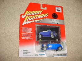 Johnny Lightning Photodesign Series 1932 Ford Hiboy Blue Color Free Usa Ship - $11.29
