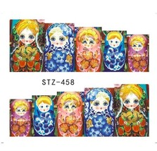"HS Store -1 Sheets Funny Nail Sticker Water Decals Nail Art Kode ""STZ458"" - $2.52"